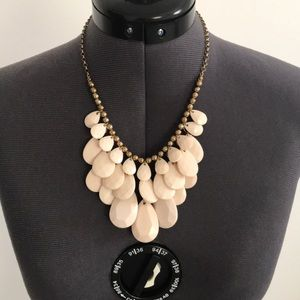 Baby Pink and Gold Statement Necklace